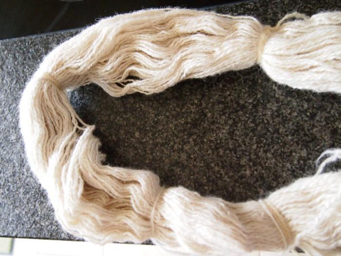 So sieht die Wolle aus